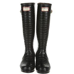 7d92ef85e47 JIMMY CHOO X HUNTER Embossed Rain Boots